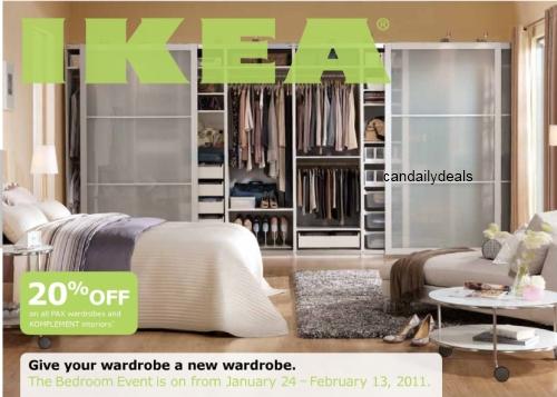 canadian daily deals ikea canada 20 off pax wardrobe