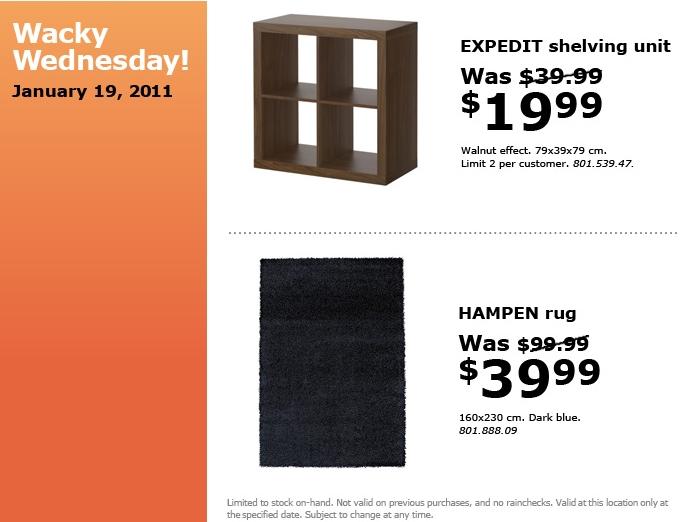 Canadian Daily Deals Ikea Canada Wacky Wednesday