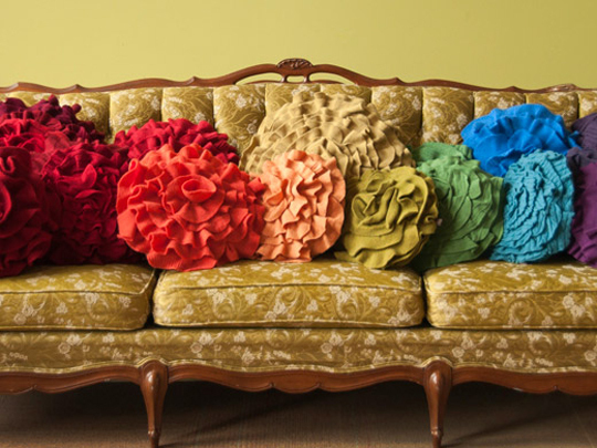 Be Different...Act Normal: Sweater Flower Pillows