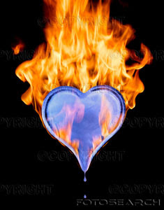 fire and ice heart - photo #28