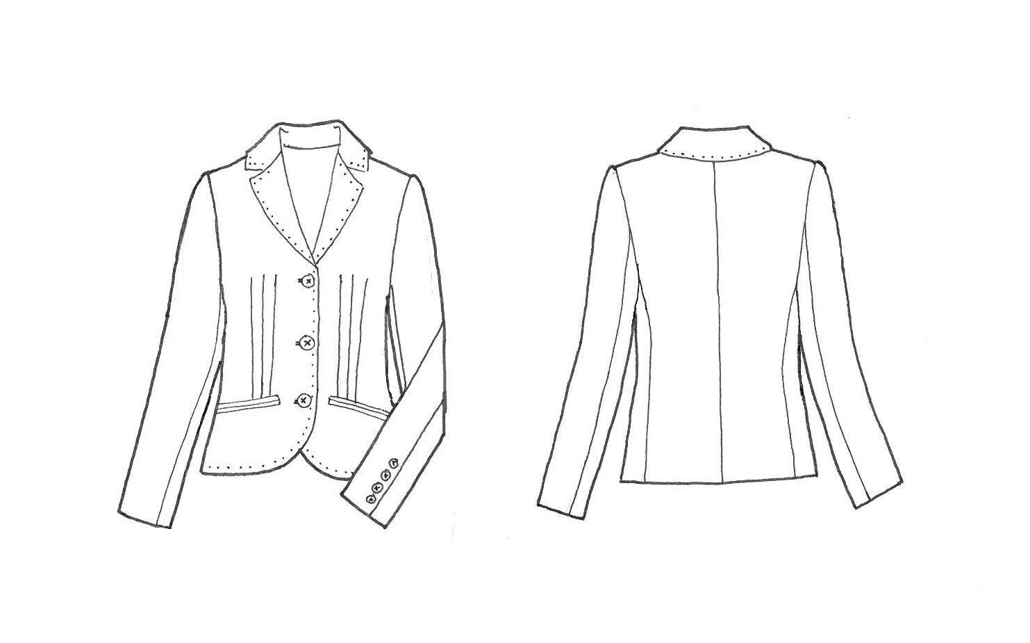 Bomber Jacket Drawing Sketch Coloring Page
