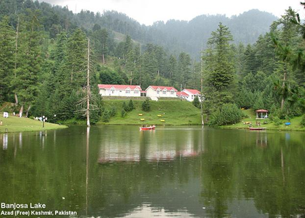 There is a beutiful rest house for visitors constructed tourism department of ajk government 3