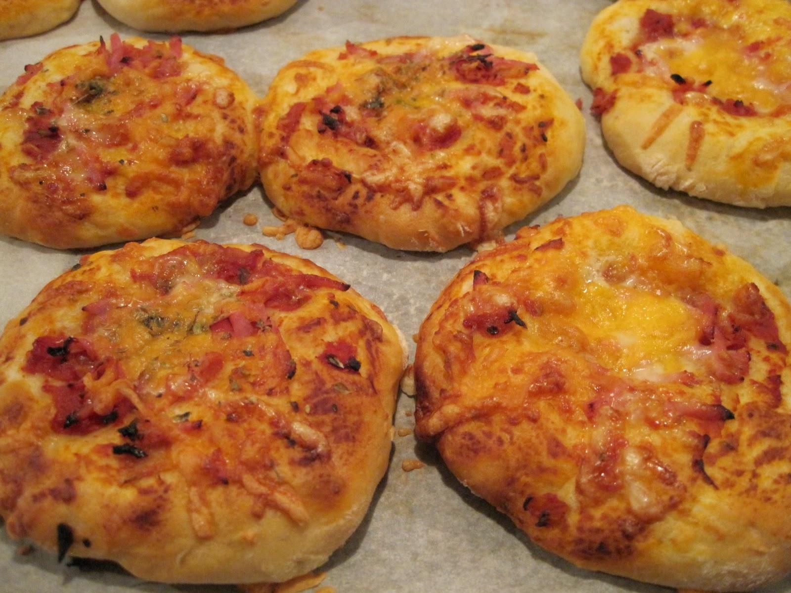 pizzaboller med skinke og ost