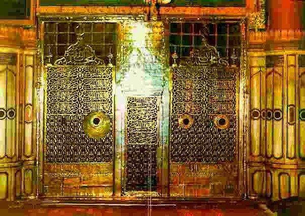 pintu masuk ke makam Rasulullah saw