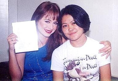 Pictures of Gaby Spanic in Manila, Philippines in 2000: