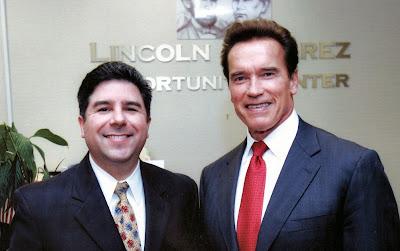 Carlos Bustamante and Gov. Arnold Schwarzenegger