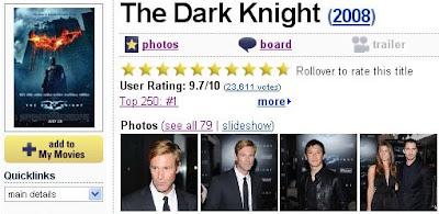 The Dark Knight Fan Blog: The Dark Knight #1 on IMDB!