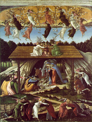 A nativity from http://www.artchive.com/artchive/b/botticelli/mystical_nativity.jpg