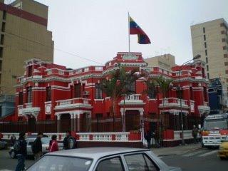 La embajada de chávez y maduro en Lima o en Buenos Aires