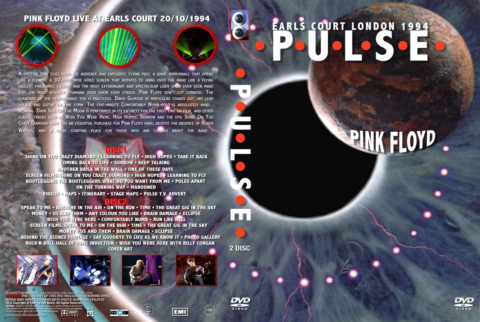 dvd do pink floyd pulse