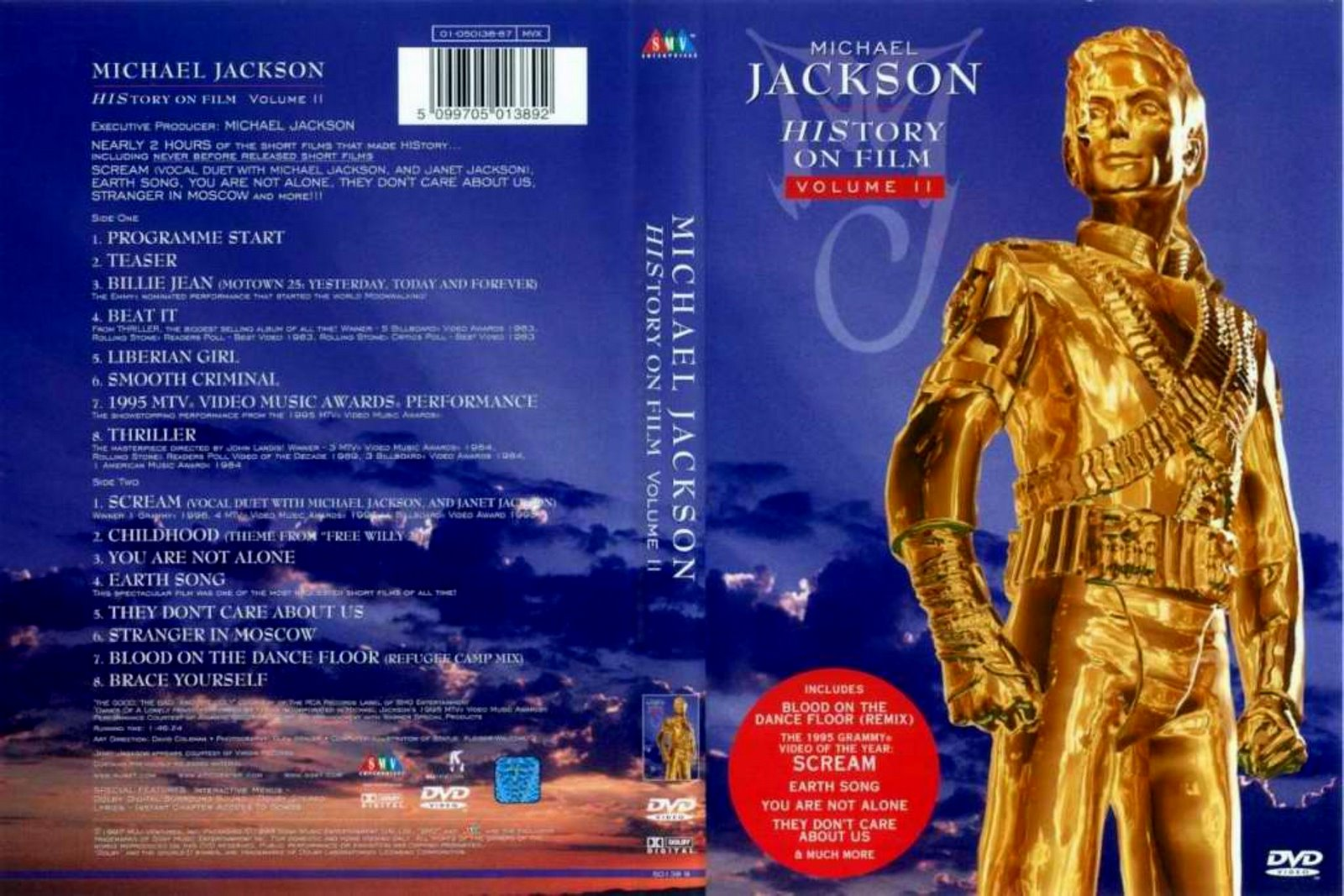 Capas Shows Internacional: Michael Jackson - History On Film