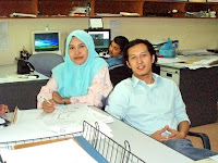 ME and Kak Zila in the office.