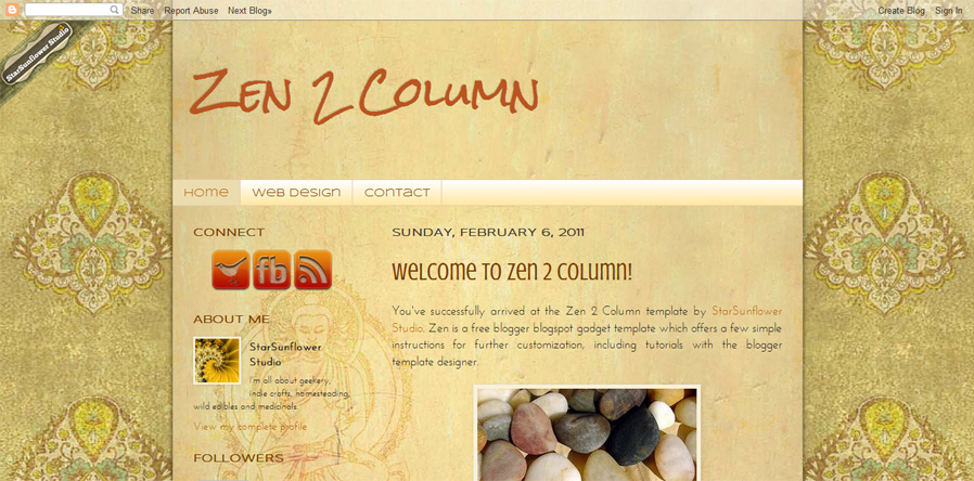 Free Blogger Gadget Template – Zen – With Icons | Starsunflower ...