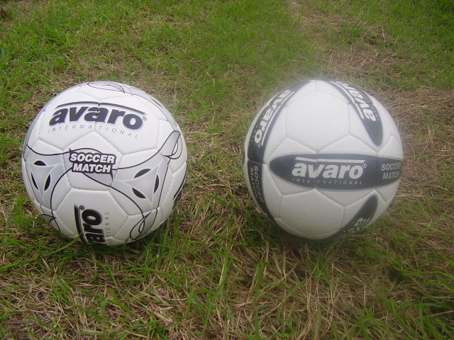 The 2 New Soccer Balls Donated by Jeff Rahari from the Land of the Kiwi's (long white cloud)