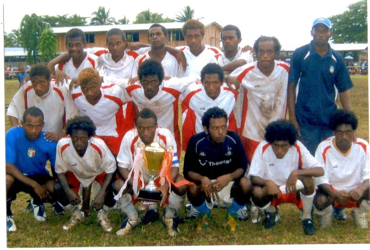 The Full Wairokai Team that won the 2007 West Are'Are Peace Cup Tournament at Kiu Village
