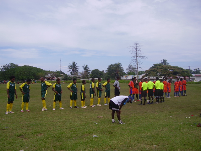 LAS United FC and Santos FC Line UP before match