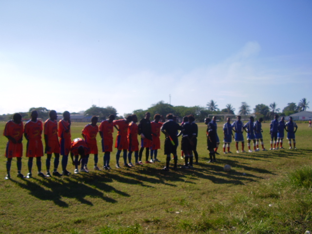Santos FC & Northern United Line up before match on 25/10/07 at KGVI South Field