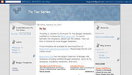 3 Column Blogger Templates Tictac Blue With W3C FREE SEO TEMPLATE DOWNLOAD BLOGGER