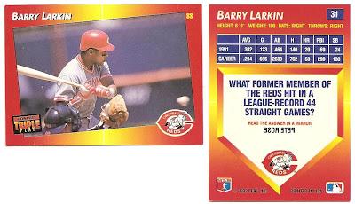 Nachos Grande Barry Larkin Collection 21 1992 Donruss