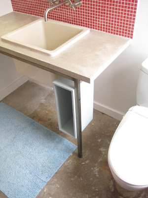 Obviously We Were Not Designing For Storage For This Vanity, So That Freed  Up The Design. The One Leg Gave The Piece A More Furniture/table Feel.