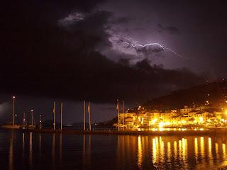 Spettacolare temporale su Marciana Marina