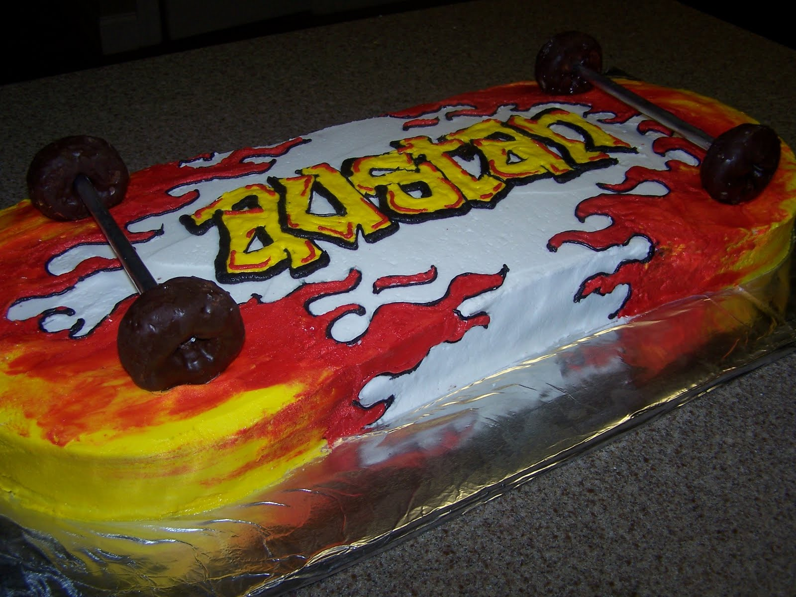 Creative Cakes N More Skateboard Cake