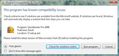 Kyle's Technobabble: Install QuickBooks Pro 2006 on Vista