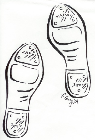How to draw tap shoes