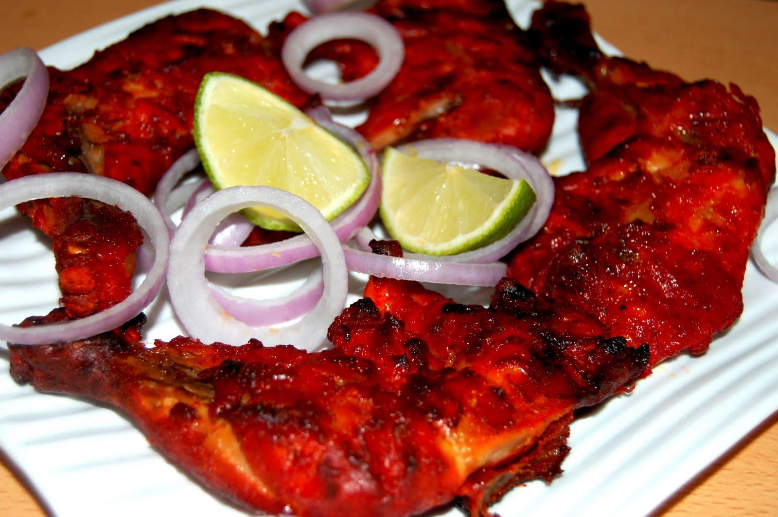 Anju's Kitchen Treasures: Tandoori Chicken legs
