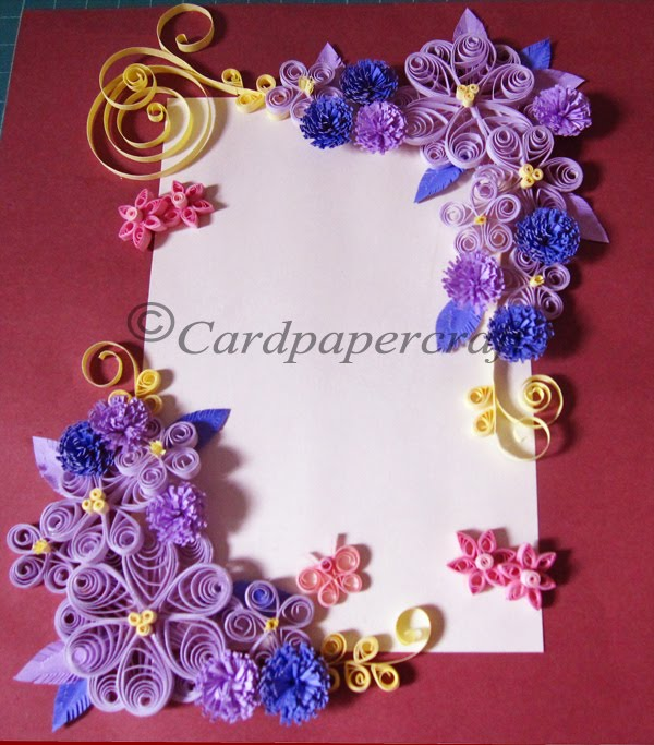 card  paper craft quilling border