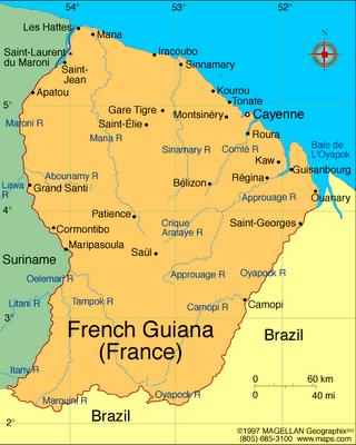 Resultado de imagem para GUIANA FRANCESA
