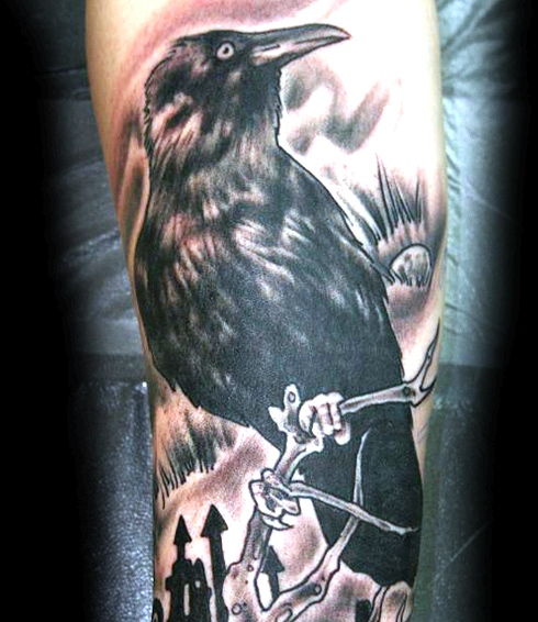 Traditional Crow Tattoo Meaning