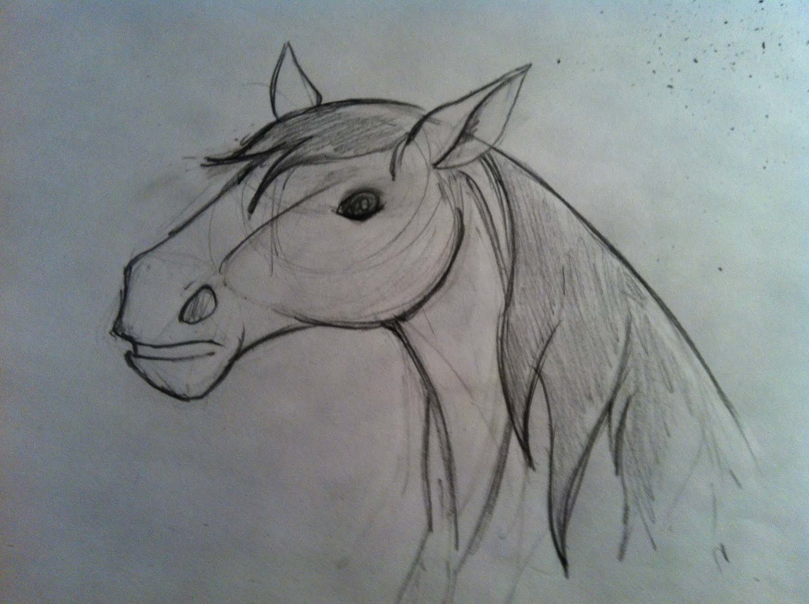A Million Bad Drawings: Another Horse Attempt! Bad Drawing