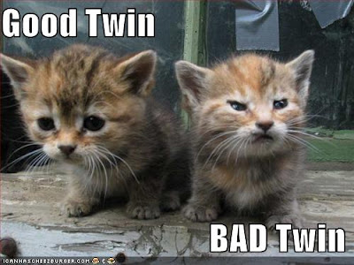 Good and evil kittens. icanhascheezburger.com.