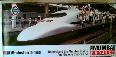 Hindustan Times Ad on Dadar Station!