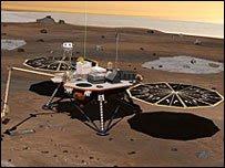 """المسبار الفضائي """"فينيكس"""" هبط بسلام على المنطقة القطبية الشمالية في المريخ ، ويبدأ مهمته"""