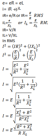Parallel RL circuit formula