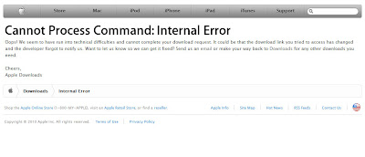 Cannot Process Command: Internal Error.