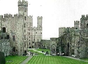 Castell Caernarfon in Wales