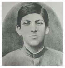 Iosif Vissarionovich Dzhugashvili... aka Stalin..as a youth