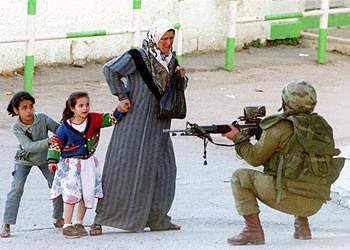 Will the IDF soldier's son be battling the young boy in 15 years time...lets hope not
