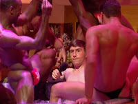 Steve Coogan as Alan Partridge in hot tub