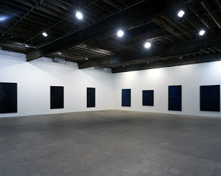 Mark Grotjahn Blue Paintings, Light to Dark, One through Ten