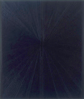 Mark Grotjahn Blue Painting Light to Dark VIII