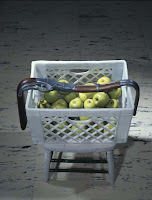 Robert Gober Untitled (Melted Rifle on Crate of Apples)