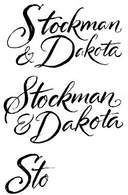 THE ART OF HAND LETTERING: Stockman & Dakota logo script