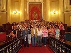 Con la asociación de mujeres de Gador