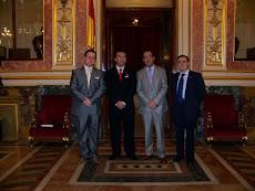 Visita del Alcalde de Alhama de Almería al Congreso