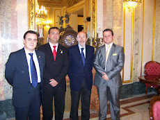 Con el Ministro del Interior Alfredo Pérez Rubalcaba
