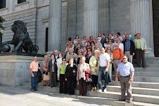 En la puerta del Congreso con Santa Fe de Mondujar